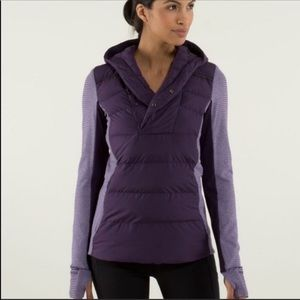 Lululemon plum pullover and forever 21 set.